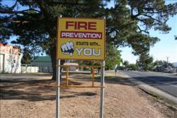 Fire prevention starts with you - signage