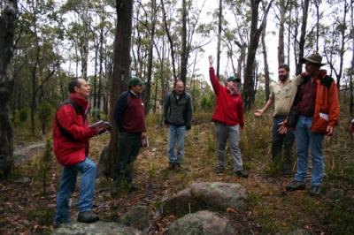 The final workshop for 2008, held in bushland south of Hobart, Tasmania