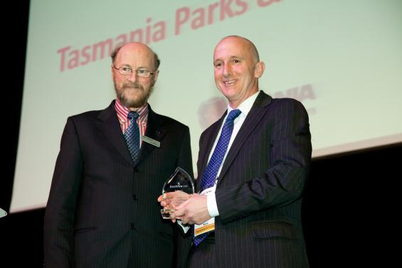 The Tasmania Parks and Wildlife Service won the research utilisation award