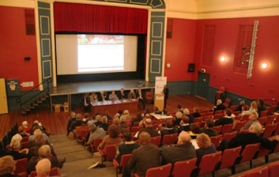 View of audience at Stawell forum