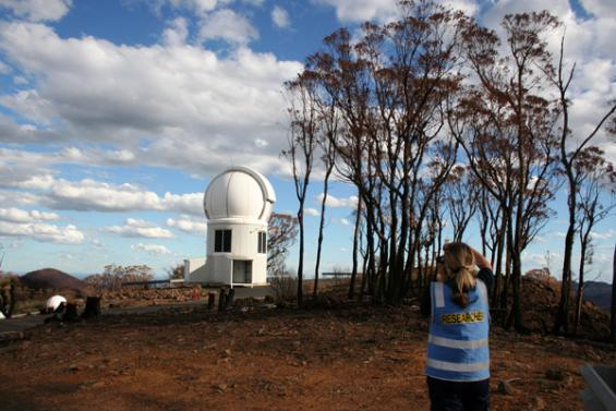 Fire damage at Siding Springs Observatory