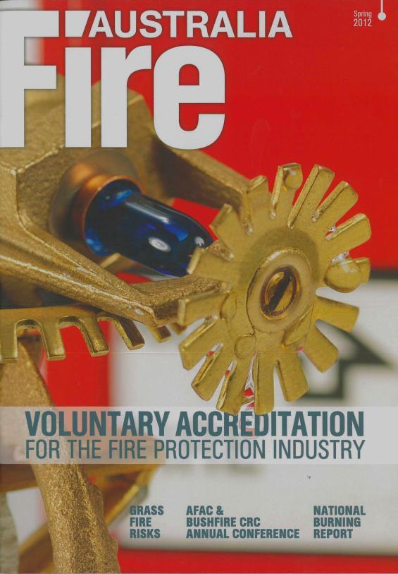 Fire Australia Spring 2012 cover