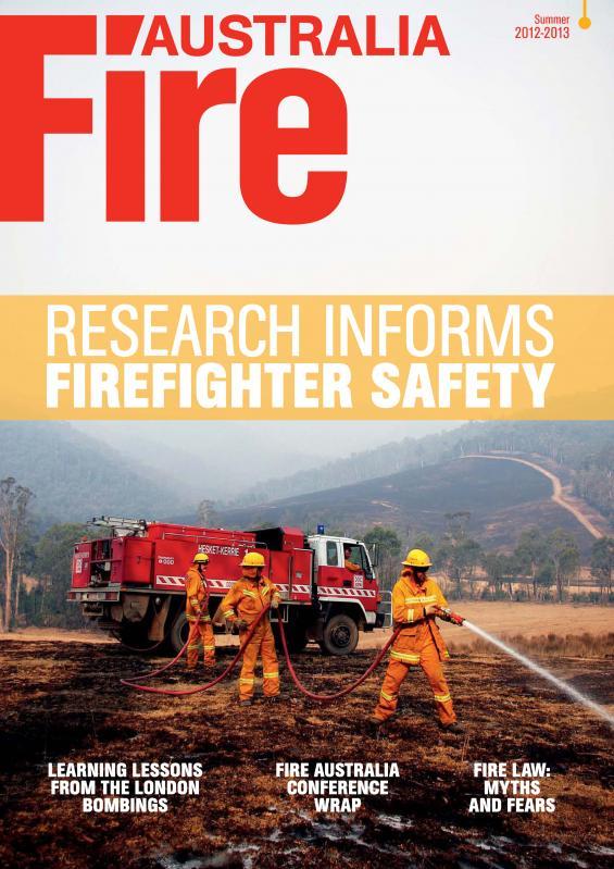 Fire Australia Summer 2013 cover