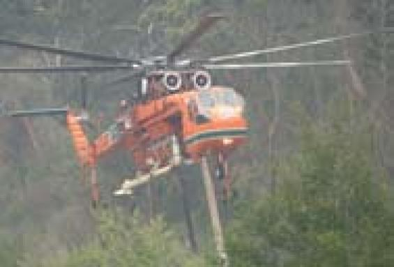 Fighting fires from the air in season 2007-08