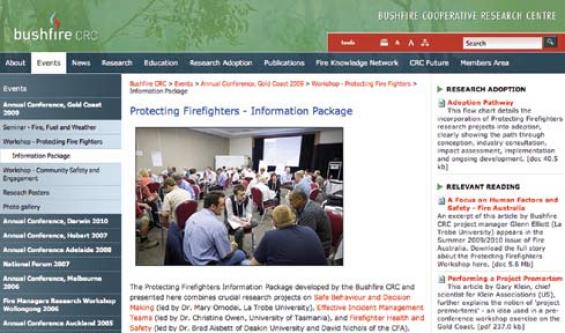 New online resource for protecting firefighters