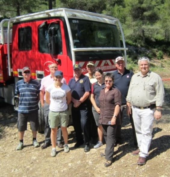 The Bushfire CRC and AFAC contingent in France