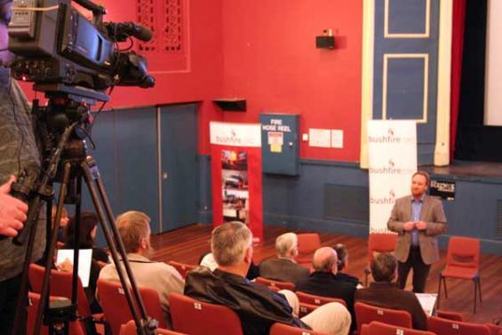 Bushfire Science public event in Stawell - Chris Weston