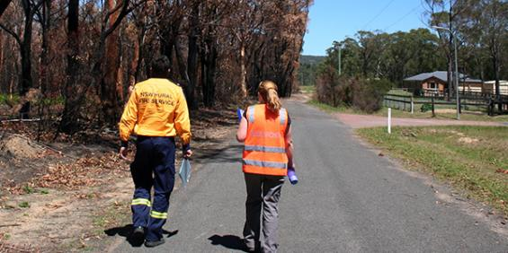 NSW RFS members and Bushfire CRC researchers worked side by side