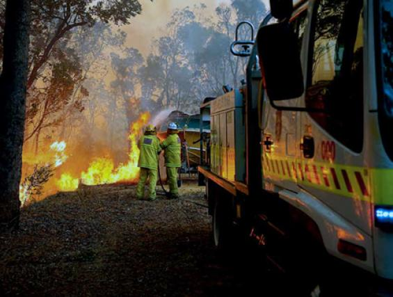 Firefighters at the Roleystone fire