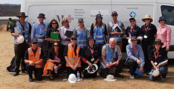 The Bushfire CRC task force team in Dunalley