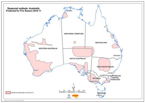 Seasonal bushfire outlook 2010