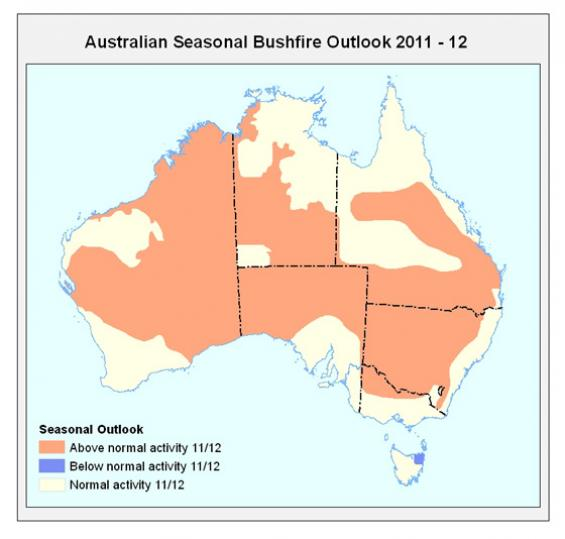 Seasonal outlook map